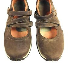 Womens brown suede Mary Jane comfort shoes US 8  EUR 38-39