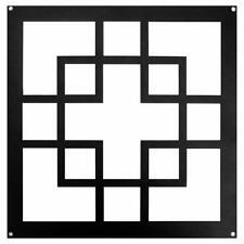 """Nuvo Iron 11"""" Geo Style Insert Powder Coated Black (2pcs) ACW80"""