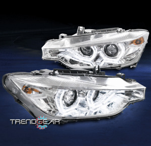 For 2012-2015 BMW F30 3-Series 4dr [HID+AFS] LED Dual Projector Headlight Chrome