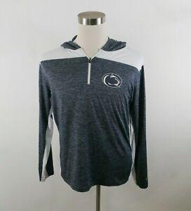 Penn State Nittany Lions Boys Girls Stretch LS 1/4 Zip Hooded Shirt Colosseum XL