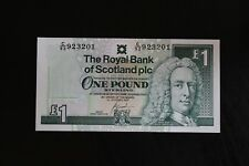 RBS Royal Bank of Scoland £1 One Pound Bank Note in Uncirculated Condition