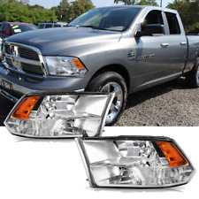 Headlights For 09-18 Dodge Ram 1500 2500 3500 Pickup Quad with Daytime Running (Fits: Dodge)