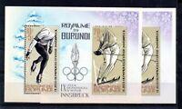Burundi 1964 Winter Olympics MNH Perf & Imperf mini sheets WS20090