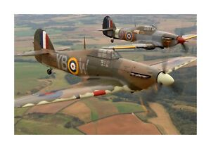Hawker Hurricane 1 A4 picture poster with choice of frame
