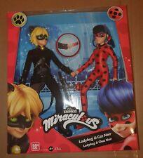 Miraculous Ladybug And Cat Noir Fashion Dolls 2 Pack. Slight box damage