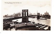 BROOKLYN BRIDGE SHOWING WHARVES ON EAST RIVER, REAL PHOTO PC  FROM FRANCE, NYC