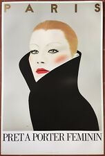 Affiche PARIS PRET A PORTER FEMININ Mode RAZZIA 1981