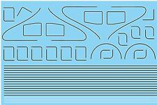MODELMASTER 4089 OO LINING FOR LNER & BR A4 LOCOS WATERSLIDE TRANSFER DECALS