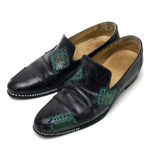 BERLUTI Business Leather Shoes Leather Black