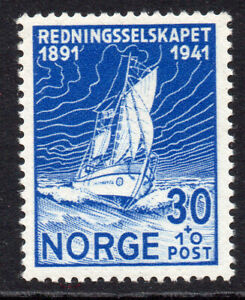 Norway 30 Ore + 10 Ore Stamp c1941 Mounted Mint Hinged (124b)