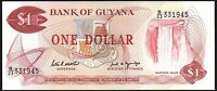 1989 Guyana $1 Dollar Banknote * UNC * P-21f  * Sign 7 *