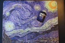 DR WHO Starry Night  Anti slip COMPUTER MOUSE PAD 9 X 7inch The Doctor