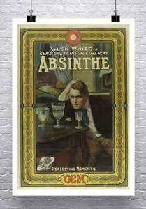 Absinthe Gem Vintage Advertising Poster Giclee Print on Canvas or Paper