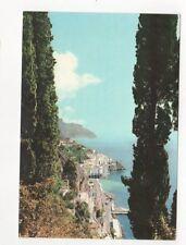Amalfi Panorama Con Cipressi 1959 Postcard Italy 560a