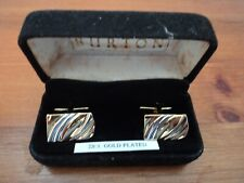 Links In Original Box - Gorgeous. Vintage 22 Ct Gold Plated Cuff