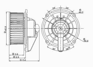 HVAC Blower Motor Front TYC 700115