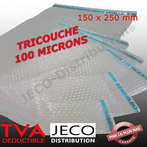 Sachets bulles d'air TRICOUCHE avec rabat adhésif lot pochettes bulles emballage