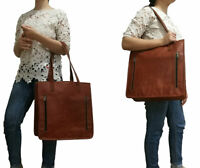 Womens Shoulder Tote Bag Genuine Leather Travel Handbag Top Handle Shopper Purse