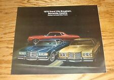 Original 1975 Pontiac Grand Ville Brougham Bonneville Catalina Sales Brochure