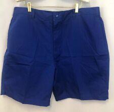 """NWOT Haband Cobalt Blue Shorts 44 Mens Falt Front Pockets 8"""" Inseam Casual"""