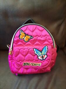 Fuschia Quilted Butterfly Backpack Satchel  Betsey Johnson
