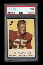 1959 Topps FB Card #155 Jim Taylor Green Bay Packers ROOKIE CARD PSA NM 7 !!!