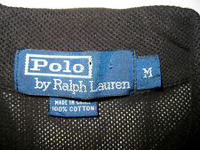 Polo Ralph Lauren Golf Short Sleeve Shirt Black Mesh Mens Medium M