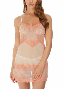 WACOAL EMBRACE LACE DEW & CORAL PINK CHEMISE / SLIP / NIGHTIE S / 10