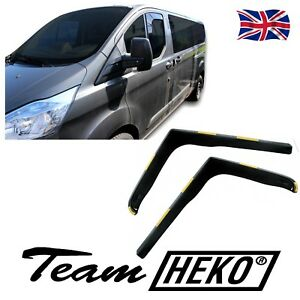 SUN SHADE + FORD TRANSIT CUSTOM 2/4 DOOR 2012-up 2pcs WIND DEFLECTORS HEKO