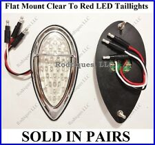 Flat Mount Clear to Red Zephyr Taillights Roll Pan Bumper Ford Truck F39CZ