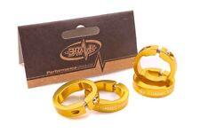 LOCKABLE GRIP END REPLACEMENT SET BRAVE MACHINE ALLOY GOLD (4x 22.2mm ) 70% OFF