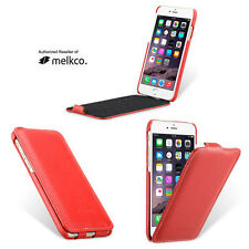"Melkco Red Leather Flip Down Case Cover For Apple iPhone 7 4.7 "" - Jacka Type"