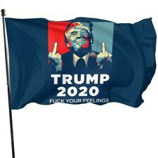 TRUMP F*CK YOUR FEELINGS BIDEN HARRIS Flag President 2020 3x5 Banner Elect Funny
