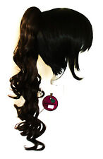 23'' Curly Pony Tail Clip Chocolate Brown Cosplay Wig Clip Only NEW