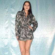 Sexy short Satin Dressing Gown S Negligee Robe Night Gown Kimono Pajamas