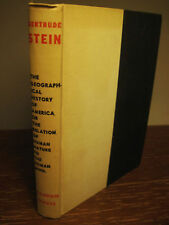 1st Edition GEOGRAPHICAL HISTORY OF AMERICA Gertrude Stein FIRST PRINTING Rare
