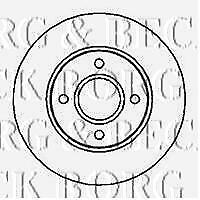 FRONT  BRAKE DISCS PAIR FOR FORD GENUINE OE BORG & BECK  BBD4983
