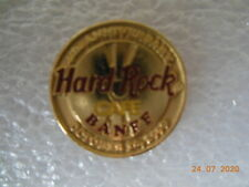 Hard rock cafe Banff - 4th Anniversary-round gold and red pin