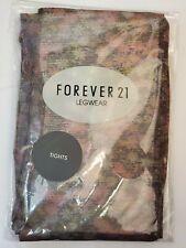 Forever 21 Legwear Tights Hosiery Multi Flower Print ~ Women's, Teen, One Size