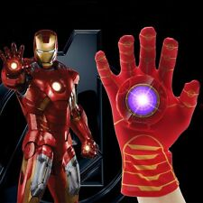 Iron Man Hand Gloves with Light and Sound Kids Cosplay Toys The Avengers Age