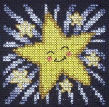 KL79 Happy Étoiles Cross Stitch Kit Par Vanessa puits de goldleaf Needlework