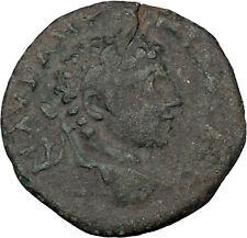 Elagabalus Bisexual Emperor Ancient Roman Coin Three legionary standards i36105