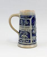 """99848018 Bierkrug Jugendstil um 1900 Spruch """"Nimm alles gering trink u. sing"""""""