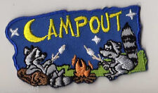 Girl Scouts Fun Badge Patch~Campout Camfire Marshmallows Stars~NEW