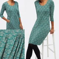 NEW RRP £62 Ex White Stuff Tessa Floral Dress In Teal Print
