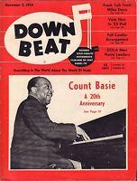 Down Beat November 2 1955 Miles Davis, Count Basie VG 081016DBE