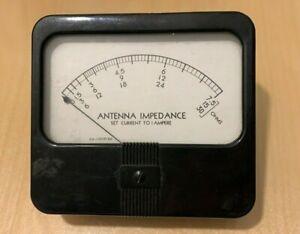 SIMPSON Antenna Impedance Panel Meter E.S.=150 RF MA.  44524