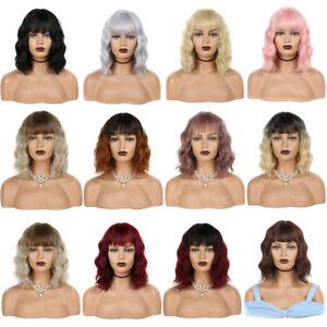 Bob Short Hair Wigs in Natural Look Party Cosplay Ladies Full Wig