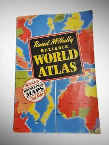 Vintage 1942 Rand McNally Reliable World Atlas Map