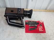 Vintage GAF ST/602 Super 8 Movie Camera with Chinon Reflex Lens F= 8-48MM , book
